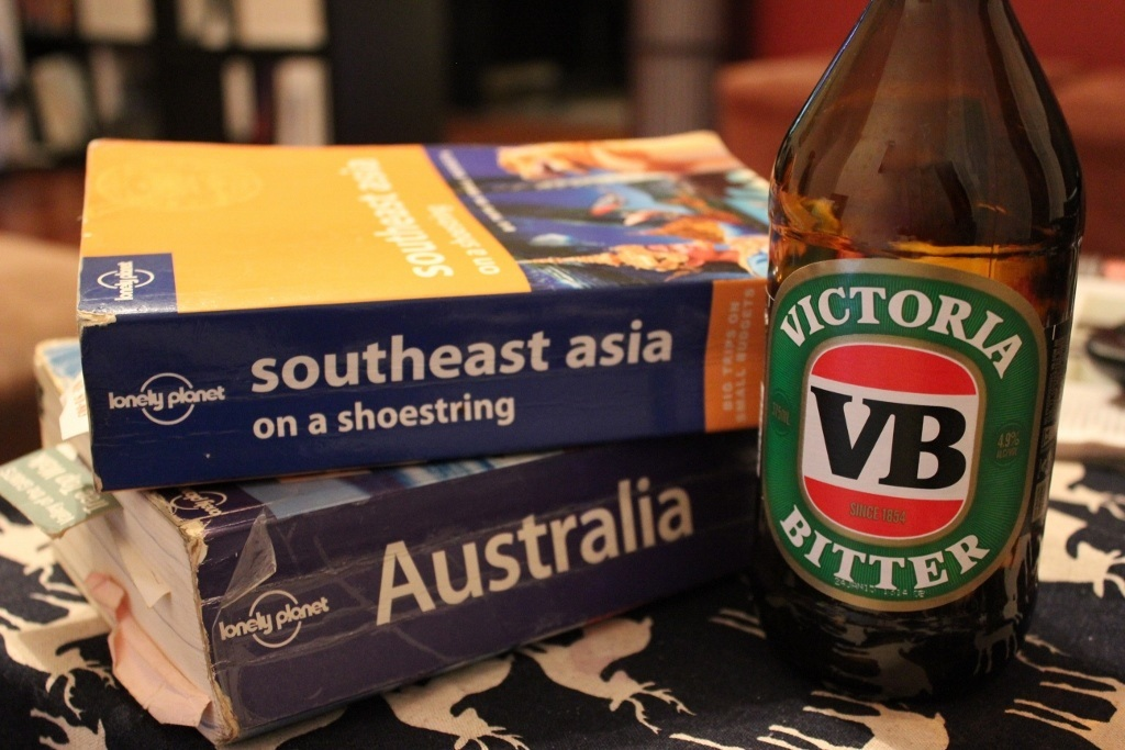 Lonely Planet Books Stacked Links to Travel Resources JetSetting Fools