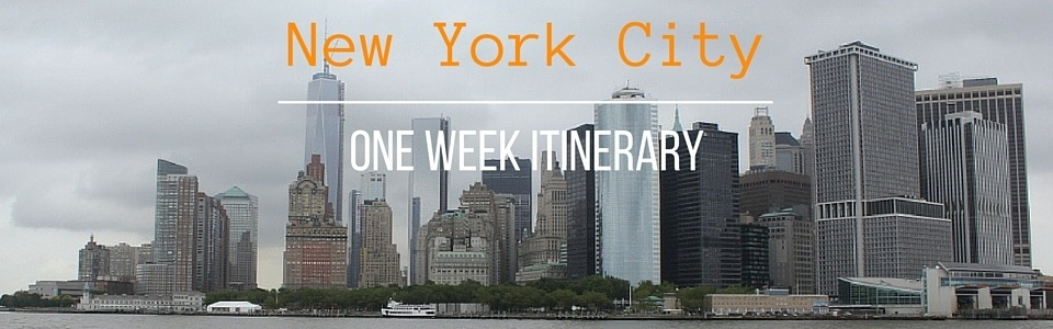 New York City One Week Itinerary