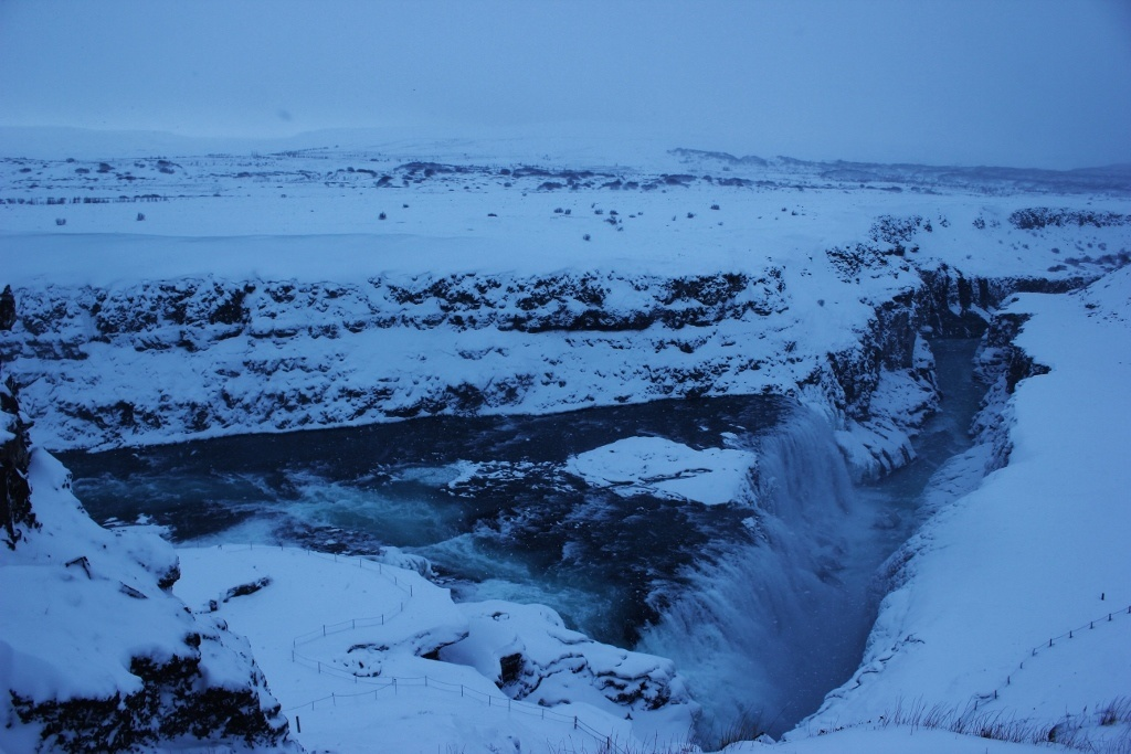 Iceland Golden Circle by Tour Bus Stop 3 Gullfoss Golden Waterfall JetSetting Fools