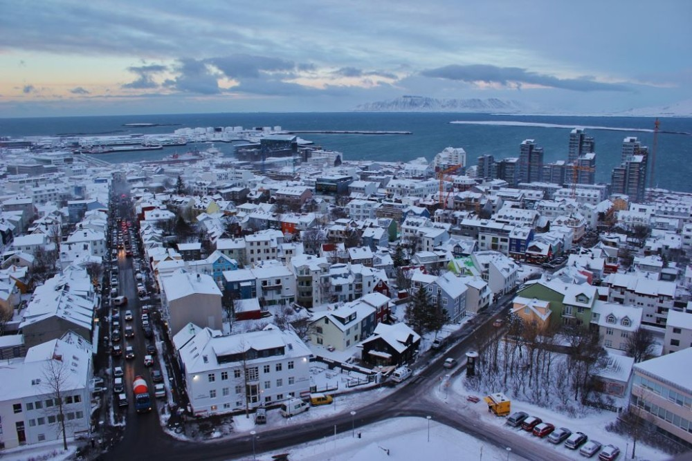 Iceland in Wintertime Reykjavik City View from Hallgrimskirkja Church JetSettingFools