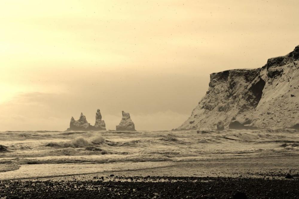 Iceland in Wintertime Reynisdrangar Basalt Rocks Vik JetSettingFools