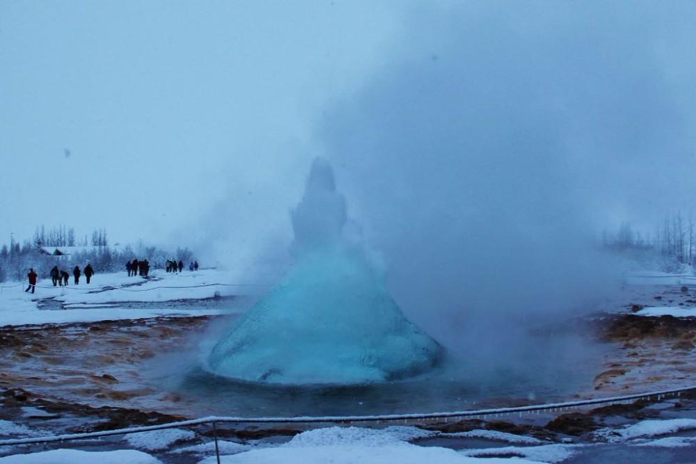 Iceland in Wintertime Strokkur Geyser JetSettingFools