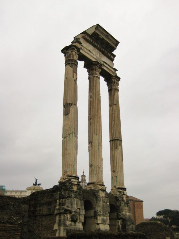 15-Day London Paris Rome Itinerary Rome Roman Columns Temple of Castor and Pollux at the Roman Forum