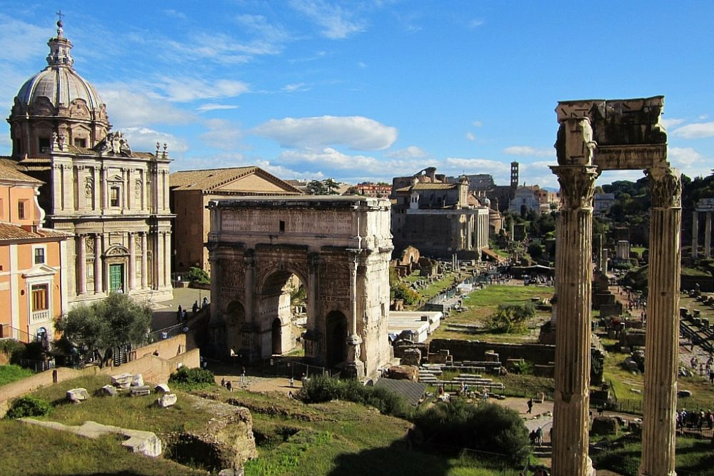 15-Day London Paris Rome Itinerary Rome Roman Forum City View