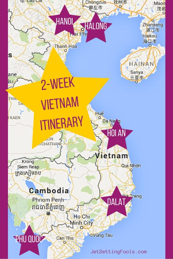 A Map for our 2-Week Vietnam Itinerary