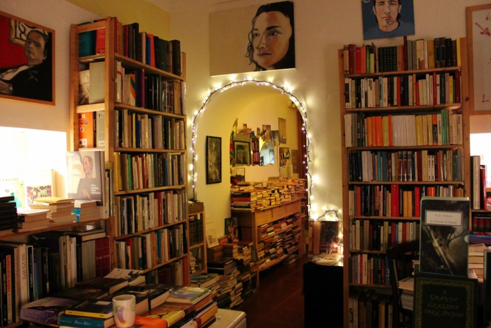 A used bookstore in Lecce, Italy