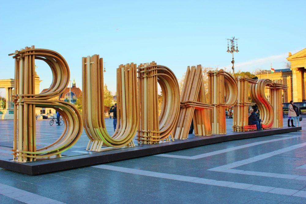 Budapest, Hungary Art on Heroes' Square JetSettingFools.com