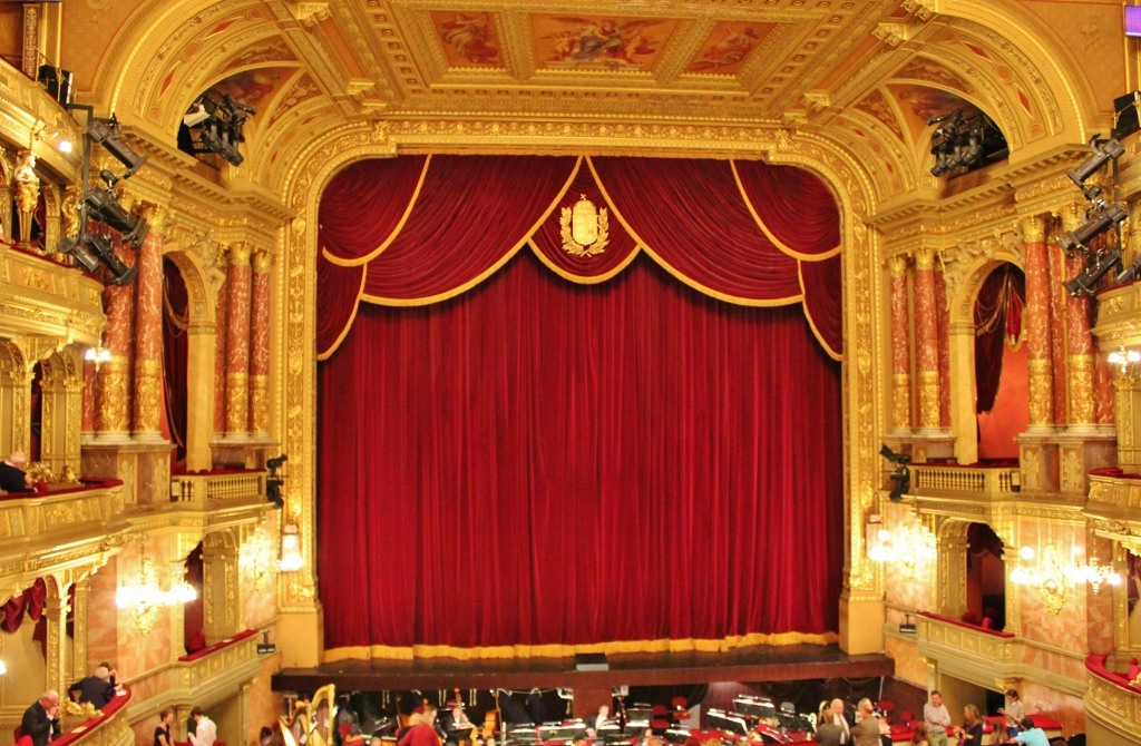 Budapest, Hungary Opera House Stage and curtains JetSettingFools.com