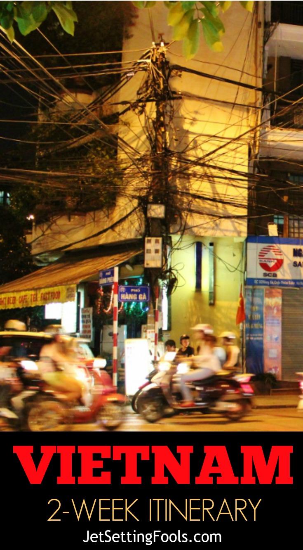 Hanoi, Vietnam Street Traffic Scooters 2-Week Vietnam Itinerary JetSettingFools.com