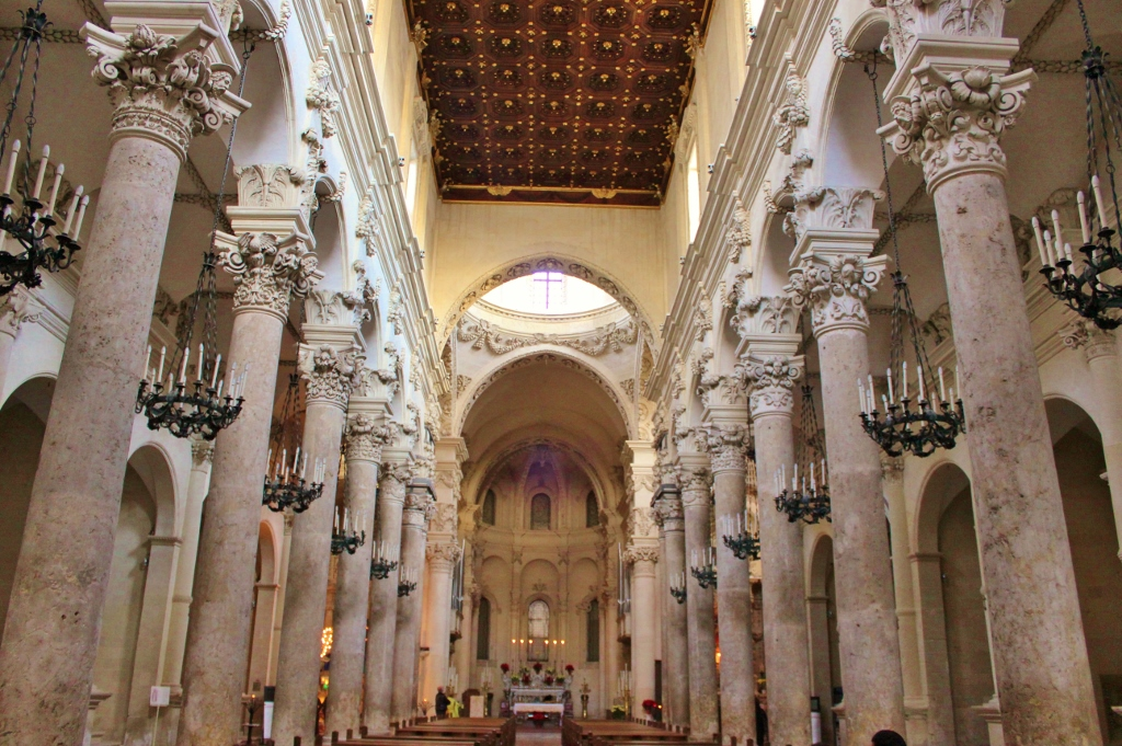 One of the things to do in Lecce, Italy is visit the many Baroque Churches, like Santa Croce