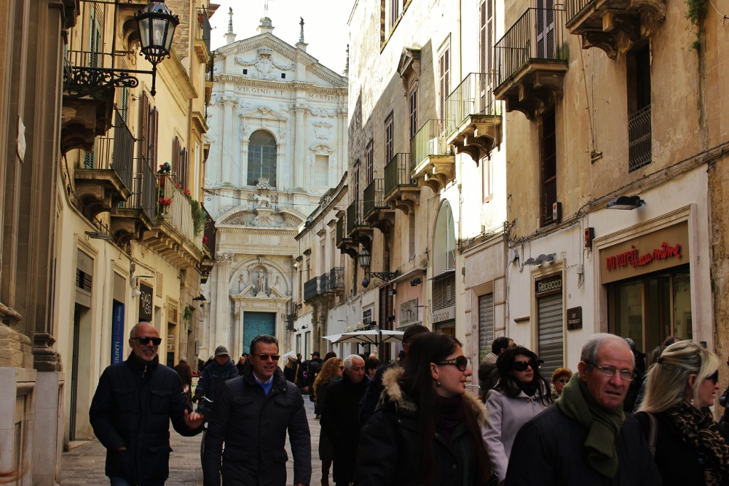 Strolling the streets is one of the many things to do in Lecce, Italy