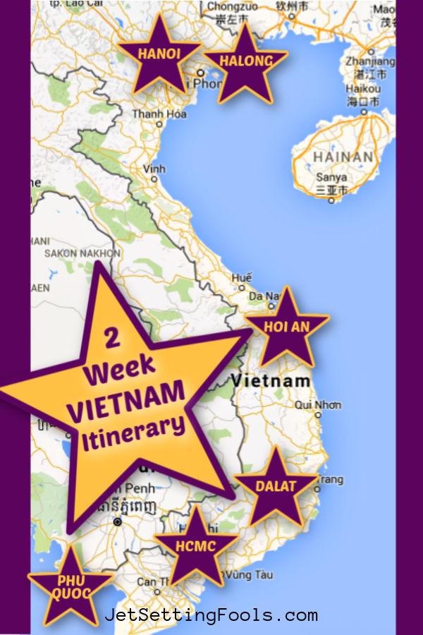 Vietnam Itinerary Route by JetSettingFools.com