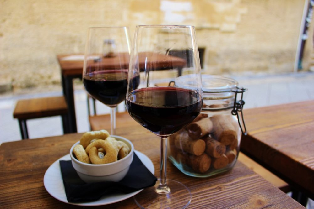 Drinking wine is one of the favorite things to do in Lecce, Italy