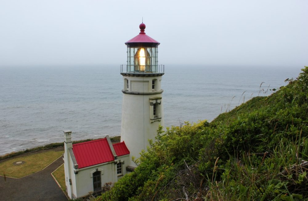 Heceta Head Trail, one of the hikes near Florence, Oregon, ends at the lighthouse