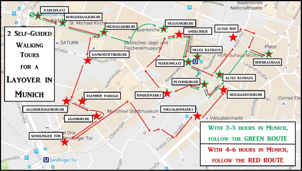 Germany Walking Tour Map