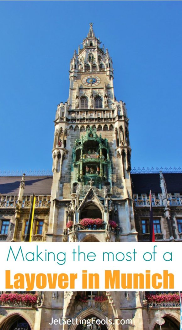 Making the Most of a Layover in Munich Marienplatz Neues Rathaus New Town Hall and Glockenspiel JetSettingFools.com