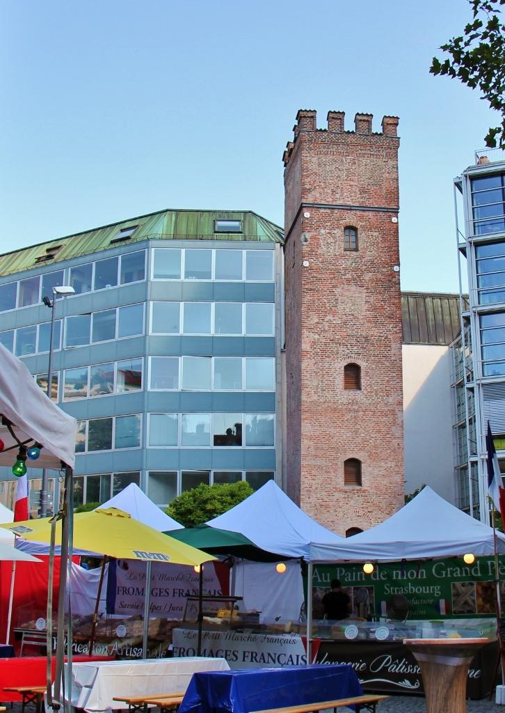 Sightseeing on a Layover in Munich Rindermarkt and Lowenturm JetSettingFools.com