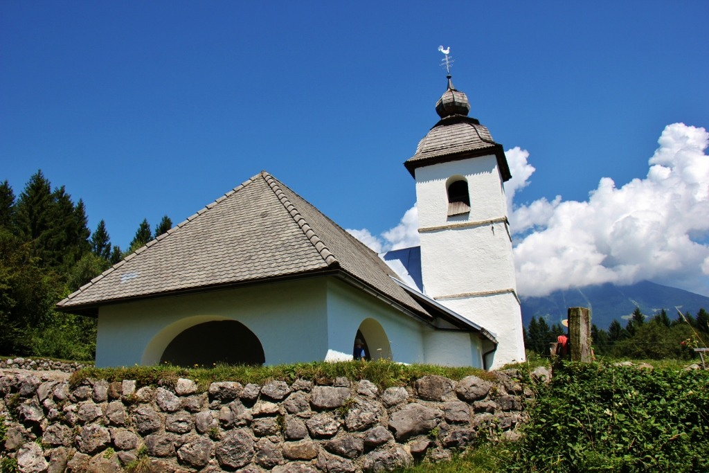 Small church St. Katarina Church near Lake Bled, Slovenia