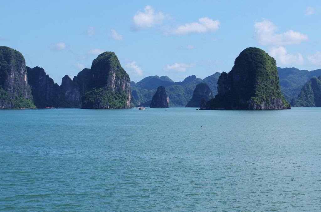 Distant Karsts on Halong Bay, Vietnam