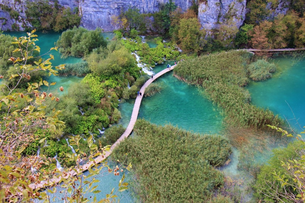 Waterfalls on Lower Lakes, Plitvice Lakes National Park, Croatia