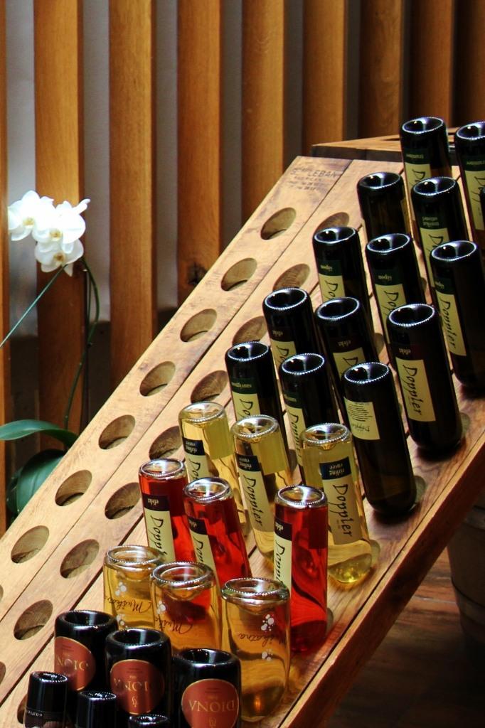Bottles of Slovenian Wine at Hisa Vina Doppler