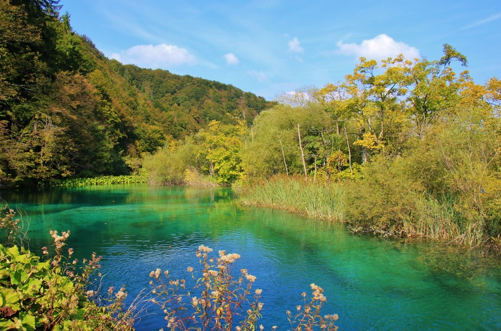 Blue hues on Upper Lakes, Plitvice Lakes National Park, Croatia