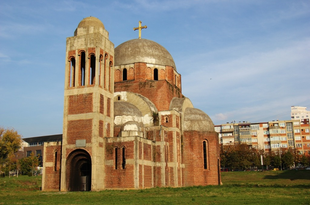 Unfinished Church of Christ the Savior in Prishtina, Kosovo