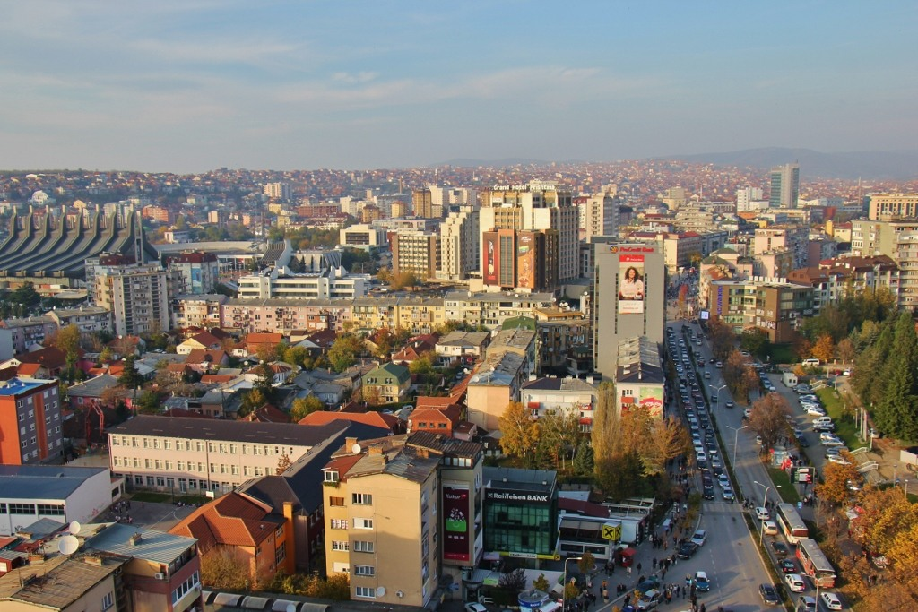 City Views from Blessed Mother Teresa Cathedral in Prishtina, Kosovo
