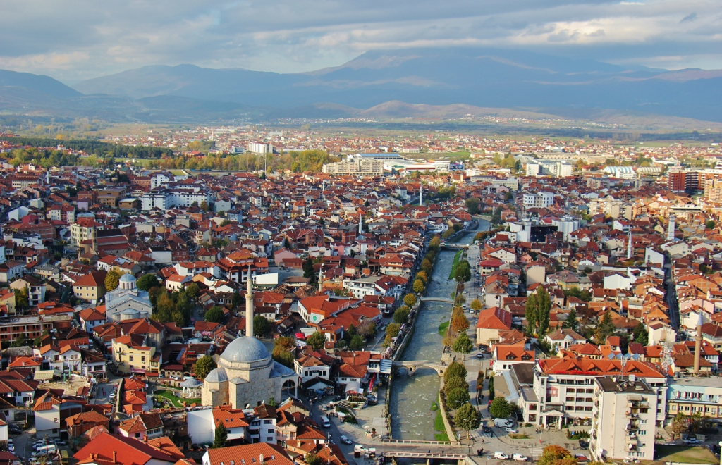 City View of Prizren, Kosovo from Prizren Fortress
