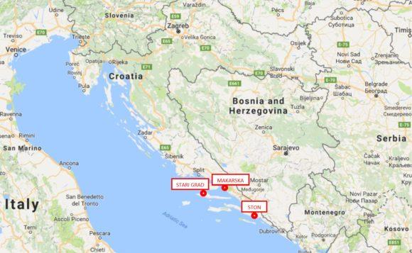 3 Cities in Croatia to visit Stari Grad, Makarska, Ston