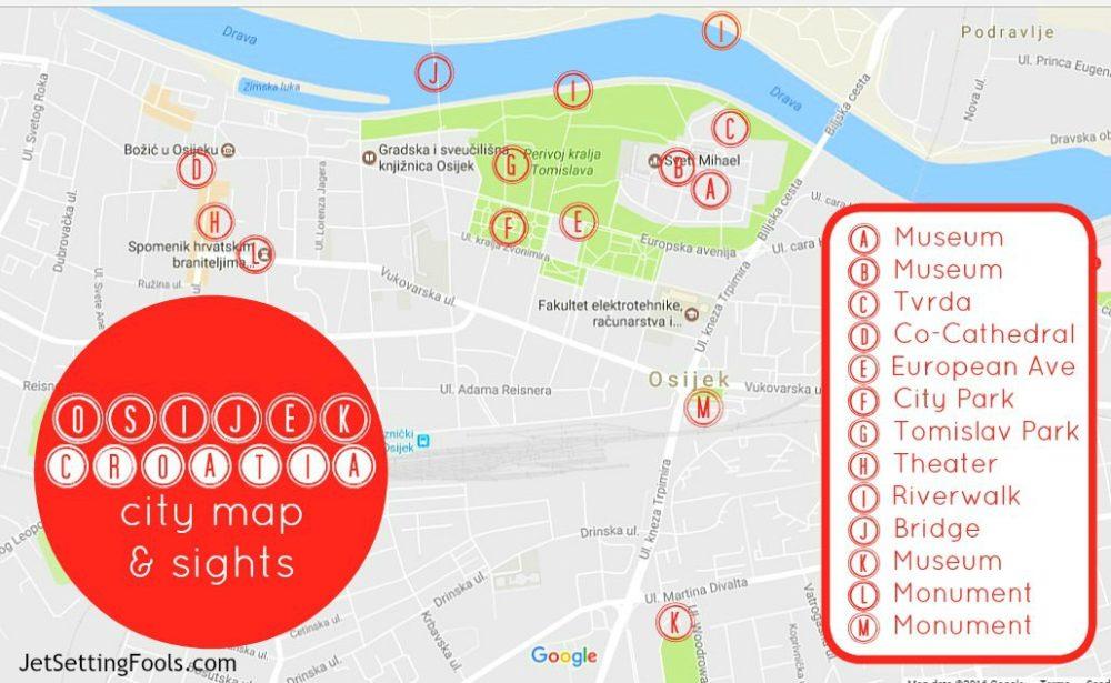 Osijek, Croatia Map and Sights
