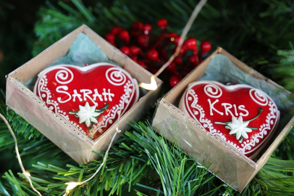 Personalized licitar ornaments made by Blazekovic family in Osijek, Croatia