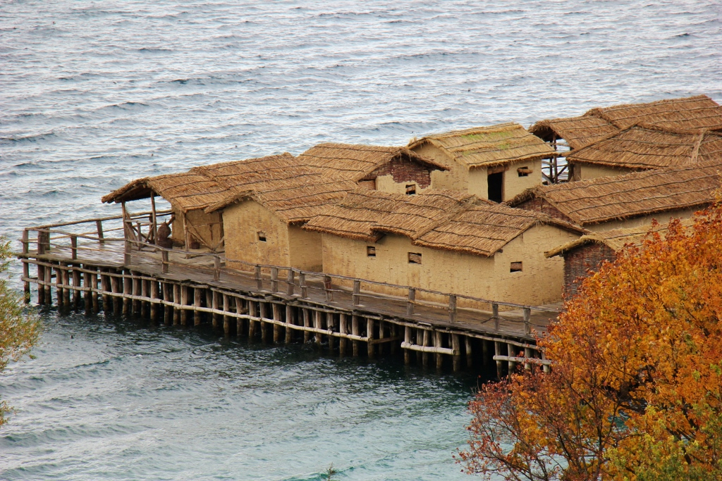 Bay of Bones Museum on Lake Ohrid, Macedonia
