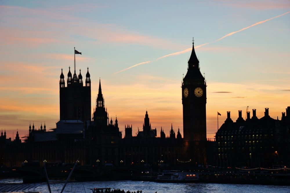 Big Ben and Palace of Westminster Parliament Building at sunset, London, England, jetsettingfools.com