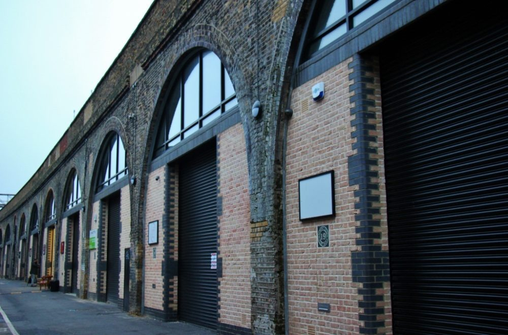 Brick railway arches on Bermondsey Beer Mile, London Craft Beer Crawl