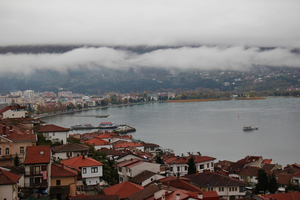 Foggy day at Lake Ohrid, Macedonia