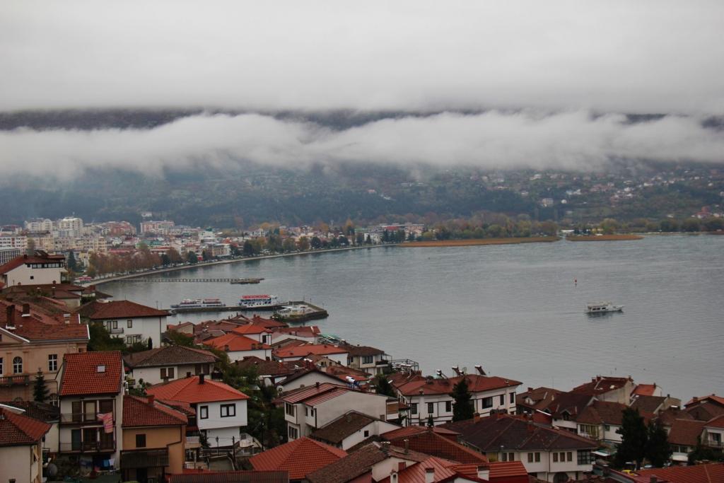 Foggy day at Lake Ohrid, Macedonia