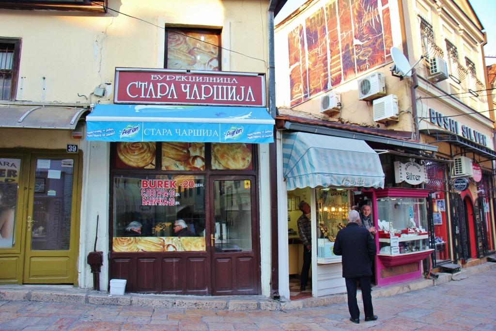 Burek Shop in Old Bazaar, Skopje, Macedonia