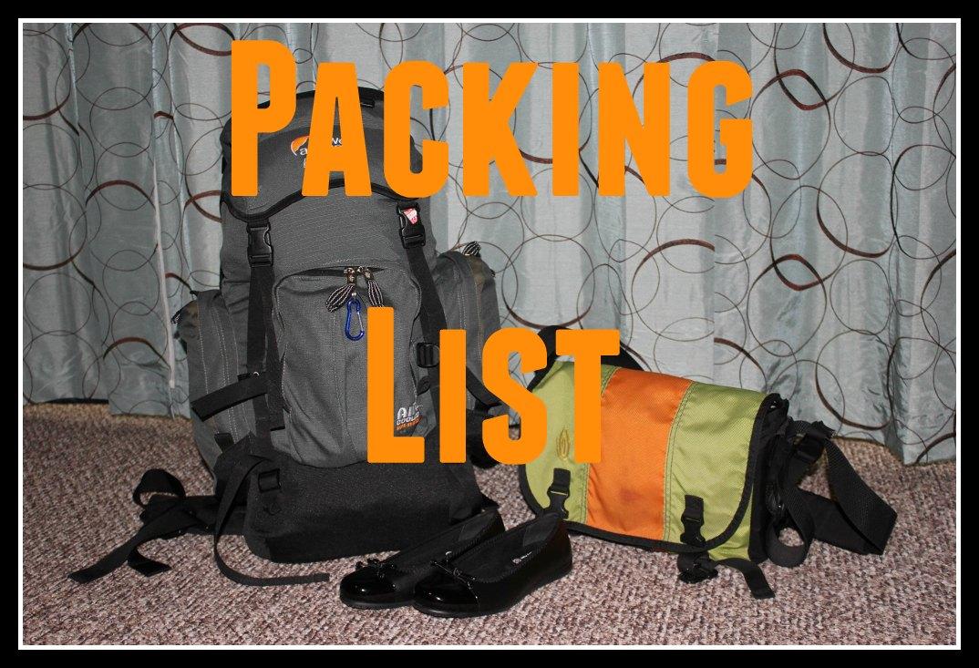 Packing List JetSetting Fools