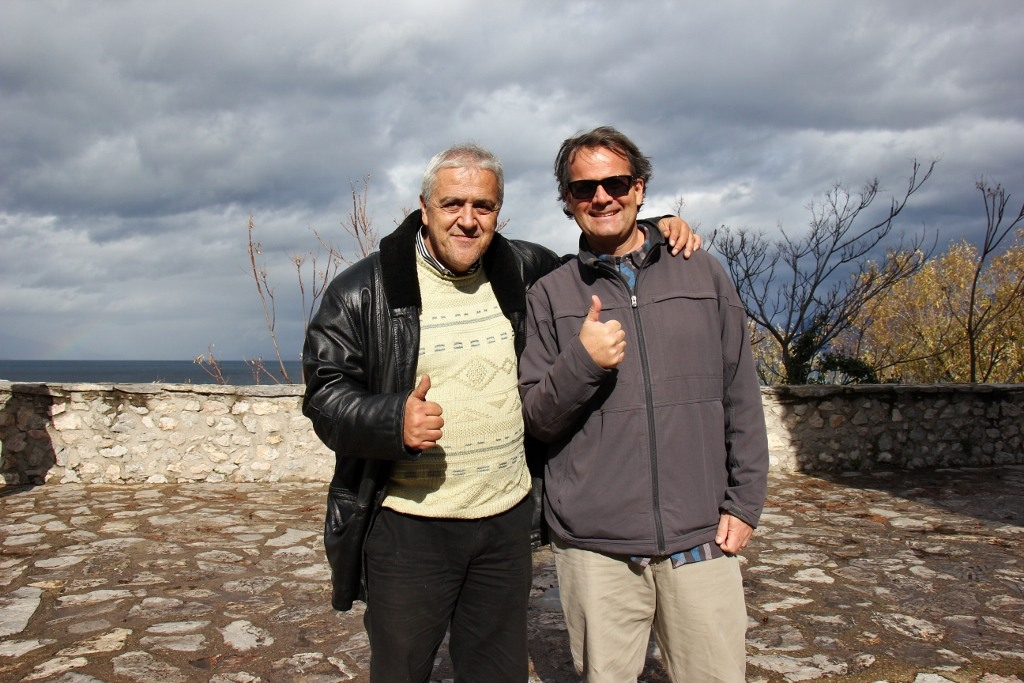 Zoran and Kris, Lake Ohrid, Macedonia