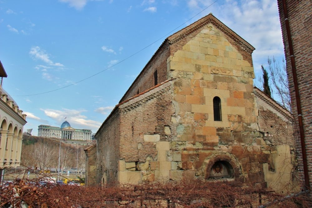 Anchiskhati Basilica of St. Mary, the oldest church in Tbilisi, Georgia