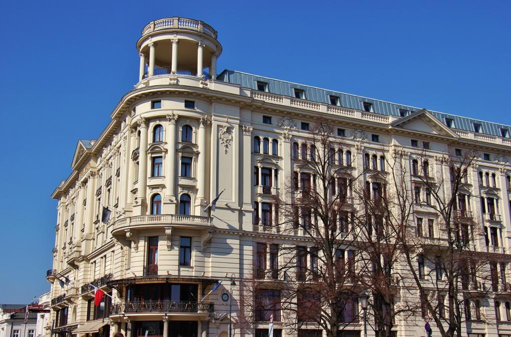 Grand and historic Bristol Hotel in Warsaw, Poland