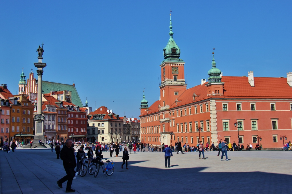 Castle Square and Royal Castle in Warsaw, Poland