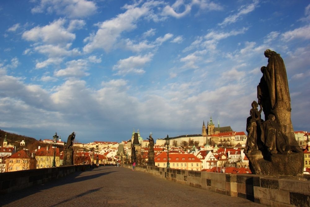 Charles Bridge at Sunrise, Prague, Czech Republic, JetSettingFools.com