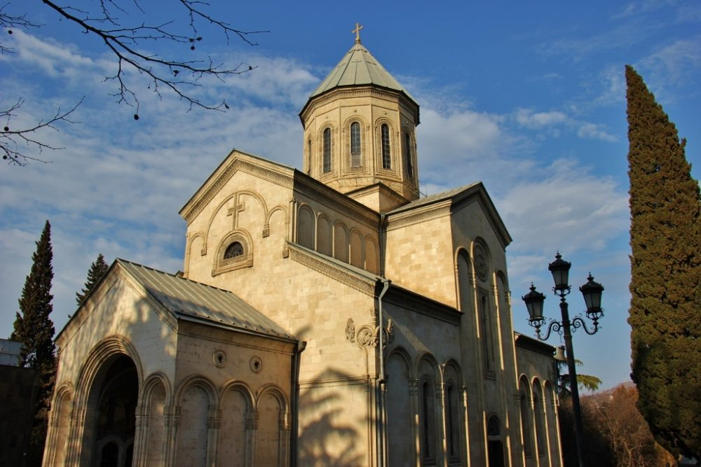 Kashveti Church of St. George on Rustaveli Street, Tbilisi, Georgia