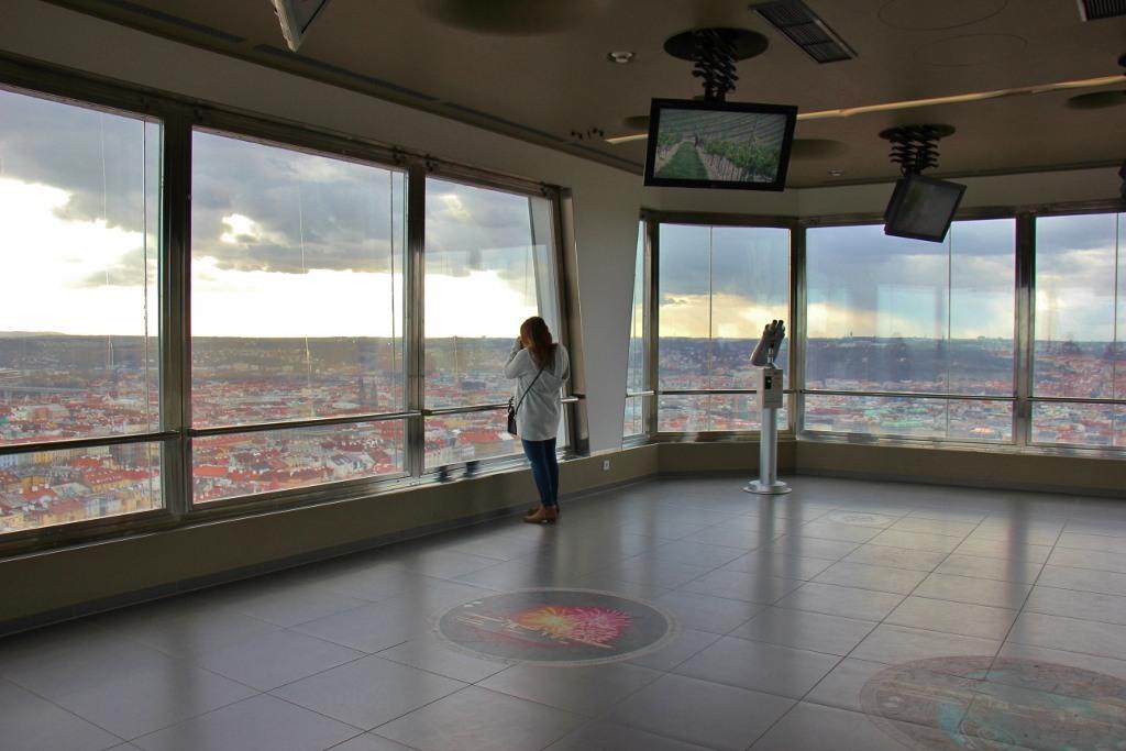 Observation deck room at Tower Park Praha in Prague, Czech Republic, JetSettingFools.com
