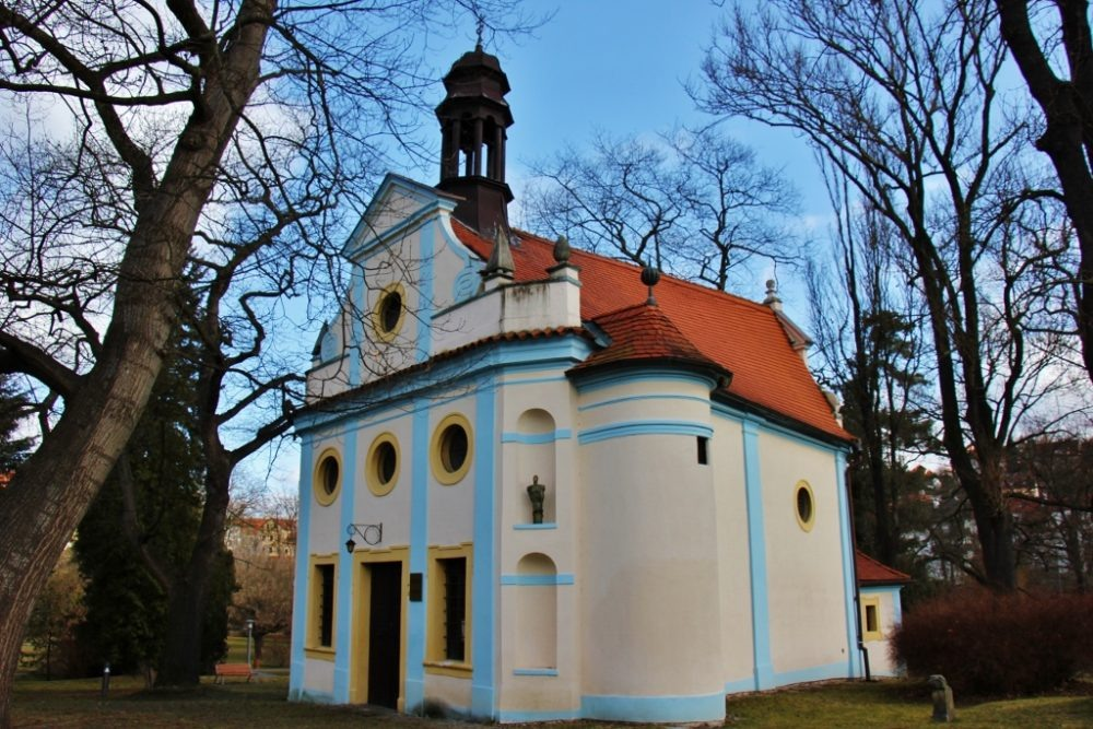 Quaint St. Martin Chapel, Cesky Krumlov, Czech Republic