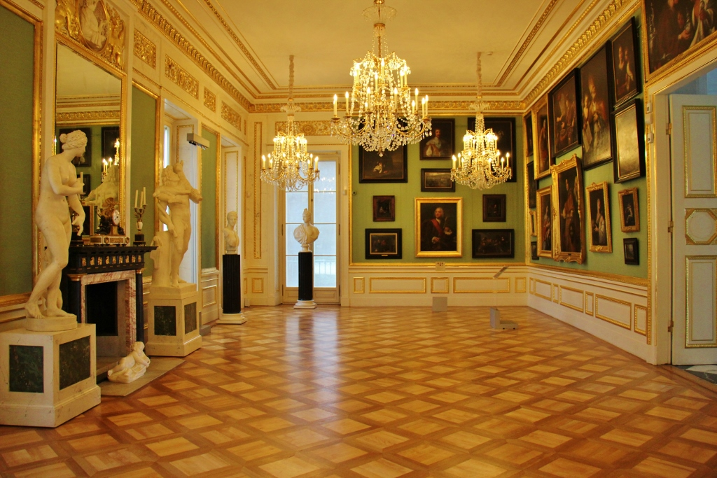 Gallery at the Royal Lazienki Museum in Warsaw, Poland