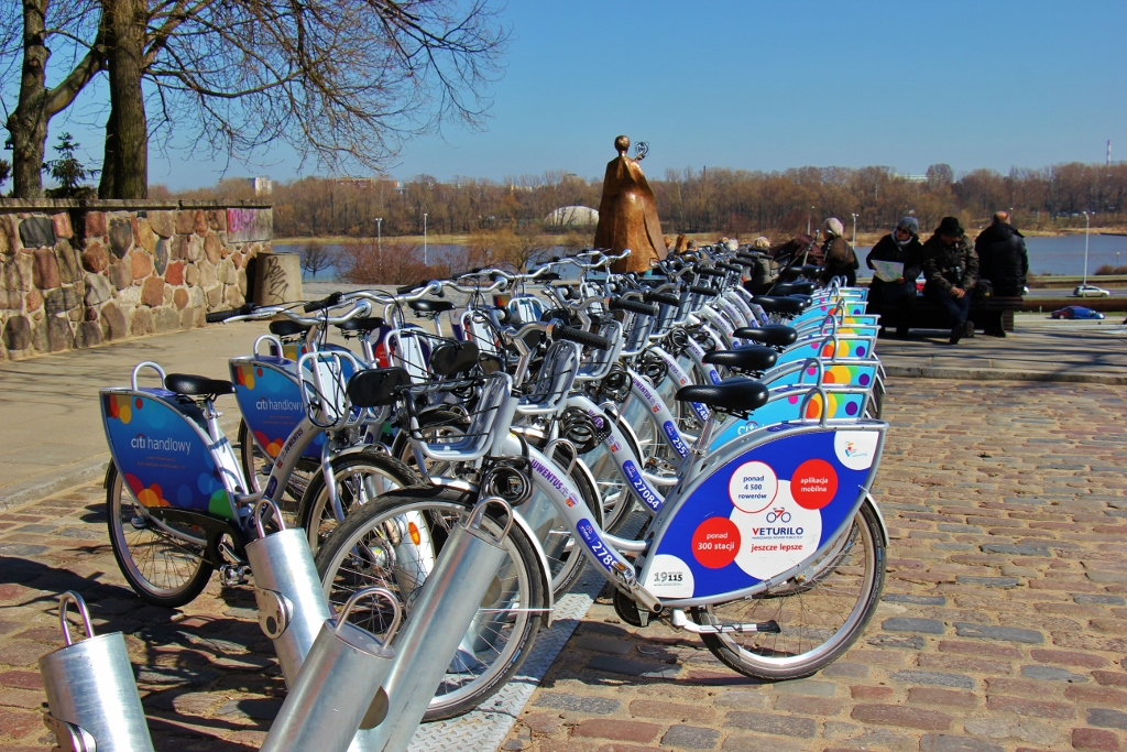 Veturilo Bike Rack in Warsaw, Poland