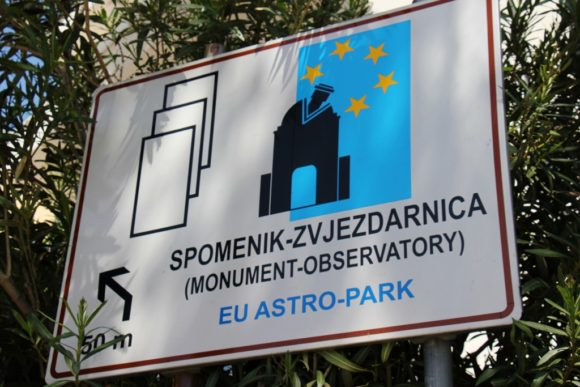 Astronomical Observatory and WWII Monument Sign, Makarska, Croatia